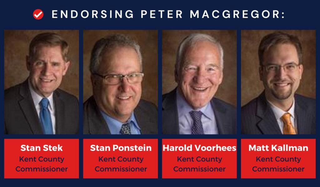 Kent County Commissioner Banner for Peter MacGregor