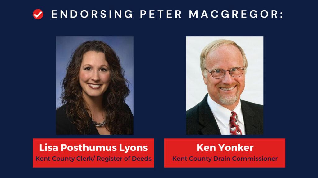 Kent County Endorsement Banner for Peter MacGregor